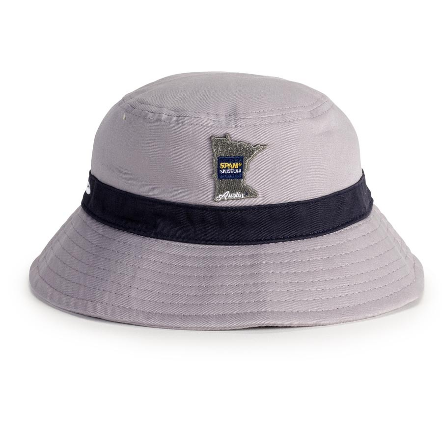 Grey Bucket Hat with MN SPAM® Museum logo