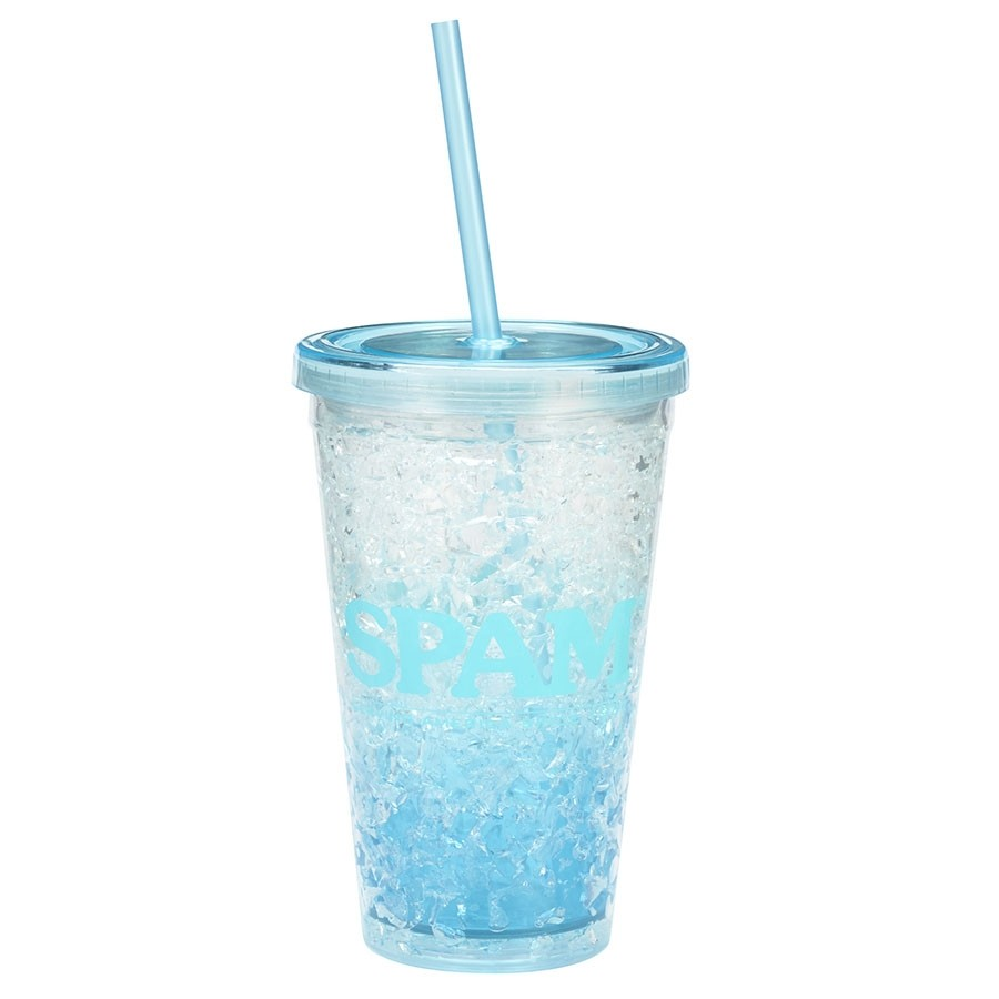 Double Insulated SPAM® Brand Tumbler with Straw