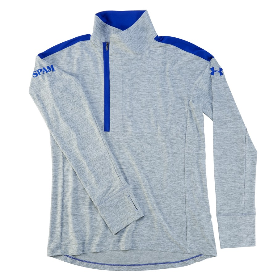 Grey/Royal Under Armour ladies 1/4 Zip SPAM® Brand Pullover