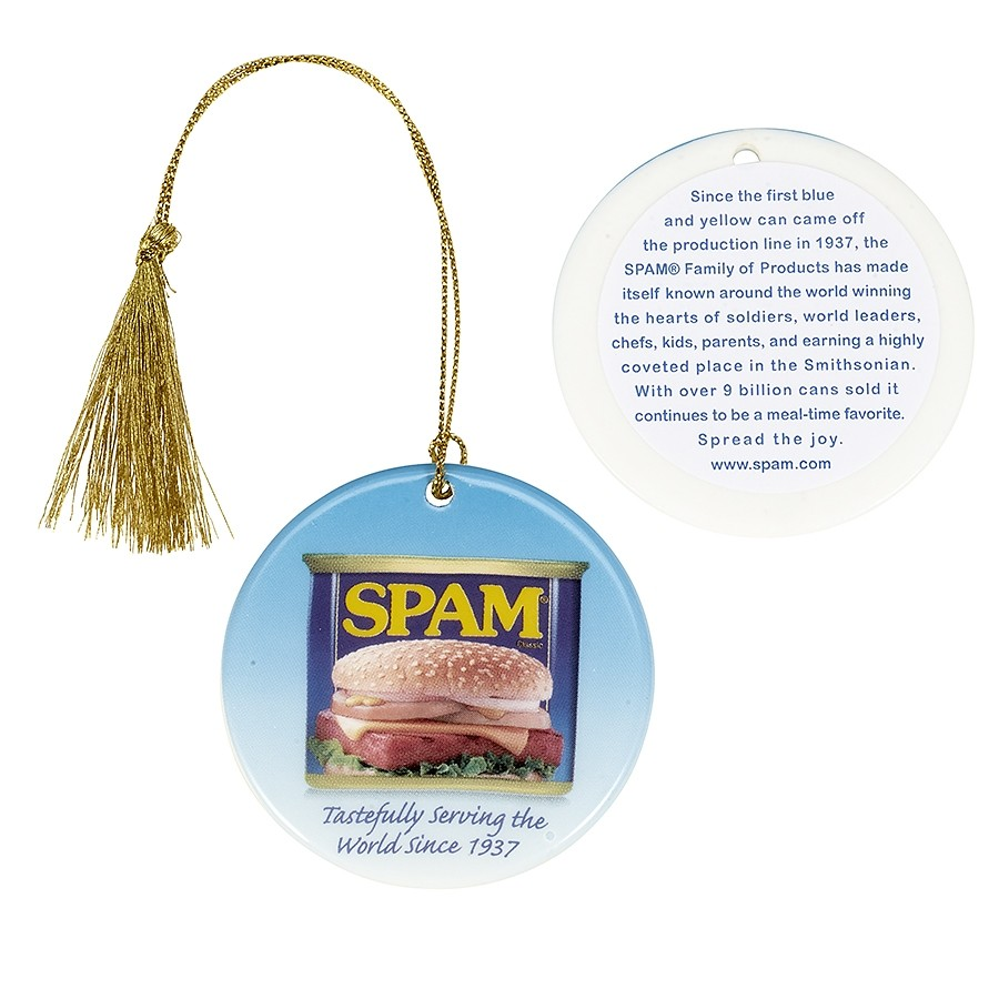 Porcelain SPAM® Can Ornament