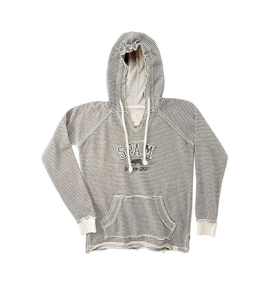 Striped French Terry Ladies Hoodie