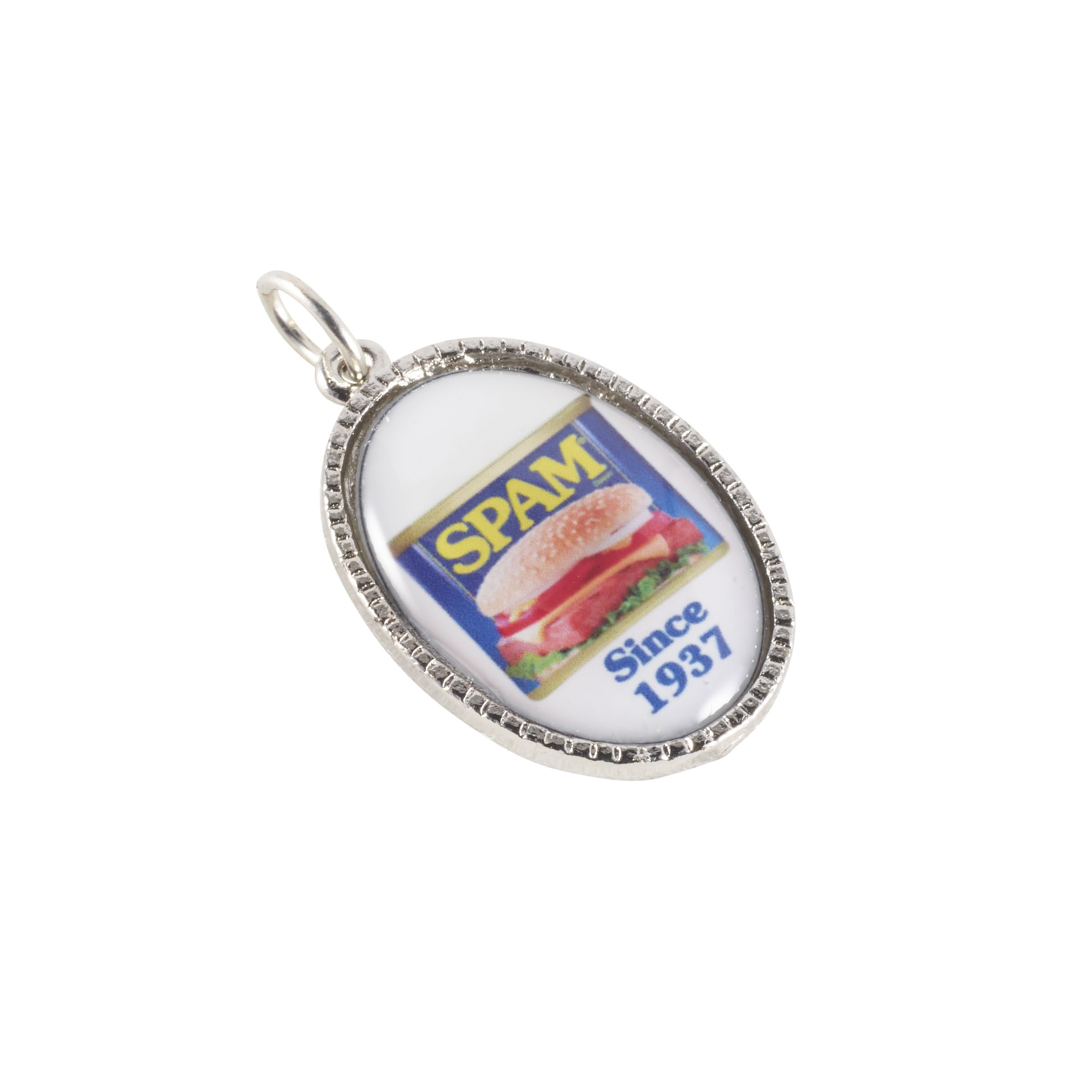 Oval Charm with SPAM® Brand logo