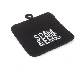 Black SPAM® & Eggs Silicone Pot Holder