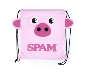 Pink Piggy Drawstring Backpack