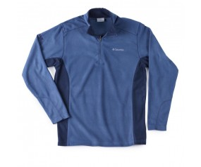 Men's 1/4 zip blue Columbia