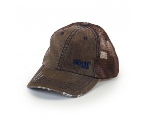 Brown SPAM® Brand Cap with Frayed Bill