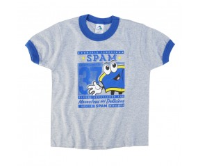 *Toddler Grey T/S w/Royal Spammy