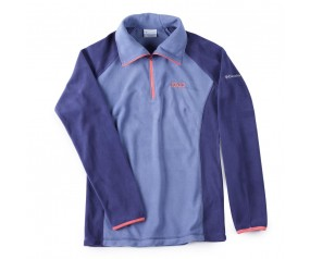Ladies 1/4 zip Columbia Fleece