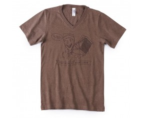 SPAM® Brand Brown V-neck