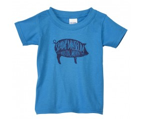 Blue Toddler Pig Museum T-shirt