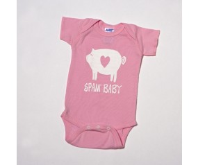 Pink Newborn SPAM® Baby Bodysuit