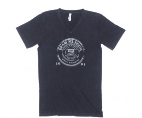 V-neck Black Mineral Wash 8th Wonder SPAM® Brand T-shirt