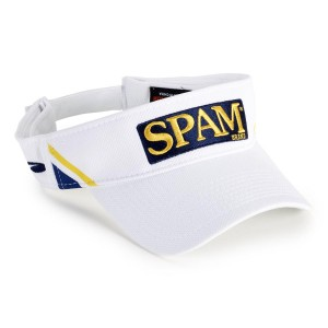 White SPAM® Brand Visor