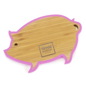 Pig Bamboo Trivet with Museum logo