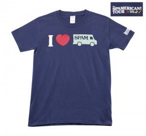 SPAMERICAN TOUR T-SHIRT, NAVY