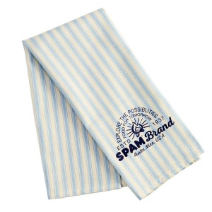 SPAM® Brand Stripe Dish Towel - light blue