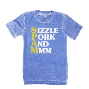 Blue SPAM® Brand Sizzle T-shirt