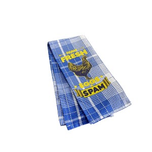 SPAM® Brand Plaid Dish Towel w/chicken