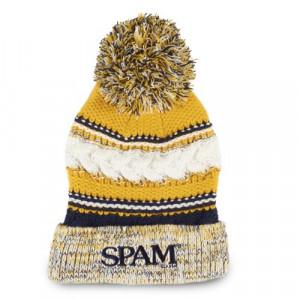 Knit SPAM® Brand Pom Pom Hat